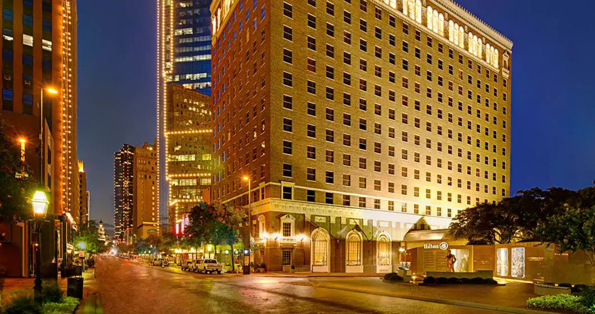 downtown Fort Worth at night