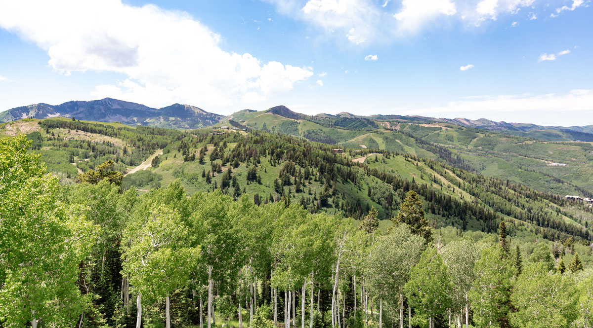 Summer mountain range in Park City, Utah