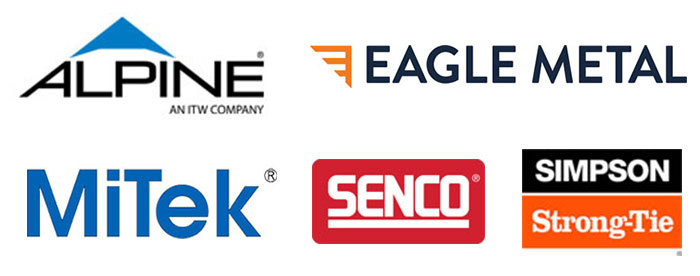 2020 OQM Gold Sponsors: Alpine, Eagle Metal, MiTek, Senco, Simpson Strong-Tie